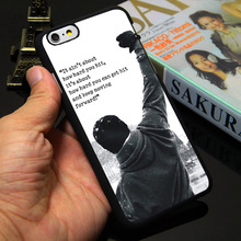 Buy Rocky Balboa Motivational Words Black Phone Case iPhone 5S 5 SE 5C 4 4S 6 6S 7 Plus Cover  (TPU / Plastic Choice ) for $1.79 in AliExpress store