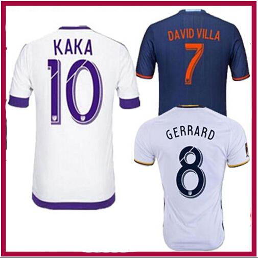 Top New arrival top quality 16 17 KAKA 2016 2017 ORLANDO ORLANDO CITY White Away Soccer Jersey football jersey(China (Mainland))