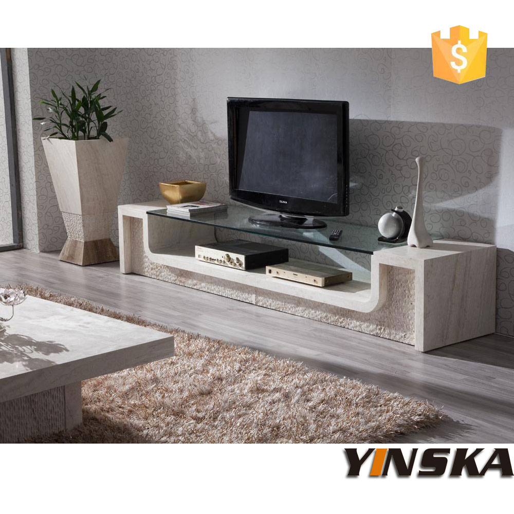 Glass Top Marble Tv Stand Stone Tv Cabinet For Sale