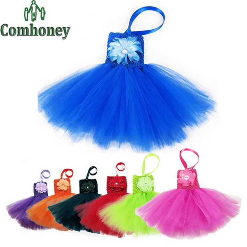 Newborn Photography Props Baby Girls Lace Dress Summer Tutu Petticoat Princess Tulle Dress Infant Rainbow Party Kids Clothes(China (Mainland))
