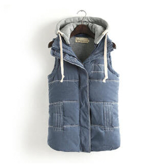 Ladies Fashion Vest,Hoody Vest,New 2015 Autumn and Winter Female Hoodie Detachable Vest,Fashion Casual Warm and Slim Vest Women(China (Mainland))