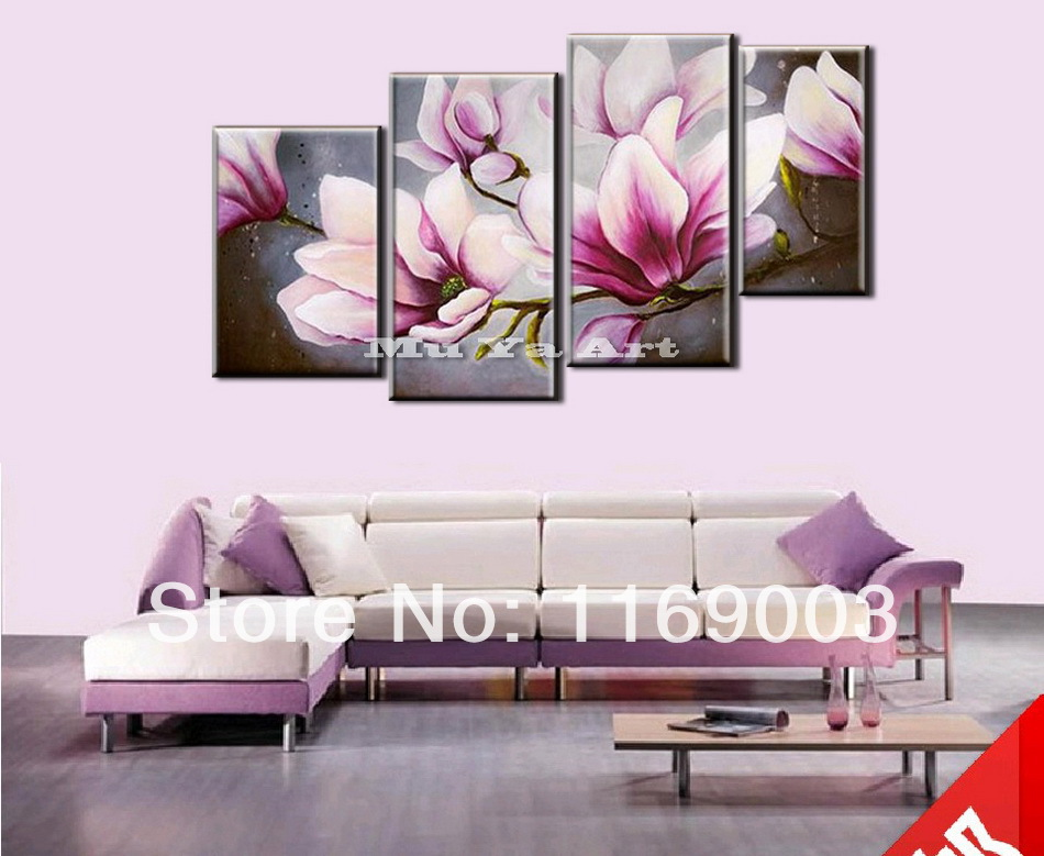 Pink orchid canvas wall art hot sell canvas wall art for Pink wall art