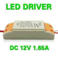 Nouvelle LED Pilote Transformateur DC 12 V 1.65A 20 w Alimentation Adaptateur Électronique AC220-240V entrée 12 V sortie(China (Mainland))
