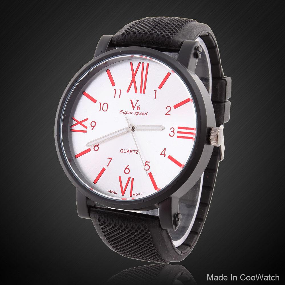 V6 Brand Men Watches Quartz Wristwatches Military Steel Table Fashion Relogio Big Case Army(China (Mainland))