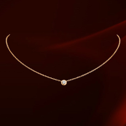 2015 Popular Thin Clavicle Chain Necklace Italina Brand Plated 18K Gold CZ diamond Pendant Necklace collier KY860552(China (Mainland))