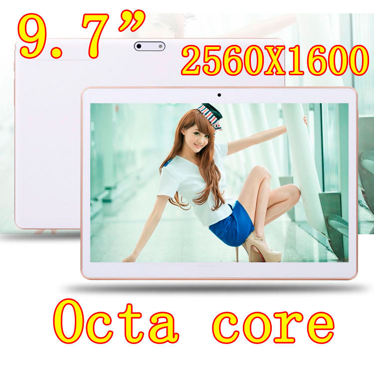 9.7 inch 8 core Octa Cores 2560X1600 IPS DDR 4GB ram 16GB 8.0MP 3G Dual sim card Wcdma+GSM Tablet PC Tablets PCS Android4.4 7 9(China (Mainland))