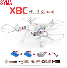 SYMA X8C X8 2.4G 4CH 6Axis Professional RC Drone Quadcopter With 2MP Wide Angle HD Camera Remote Control Helicopter 2015 Newest(China (Mainland))