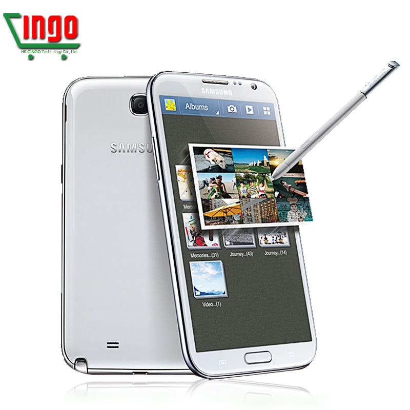 Original Unlocked Phone Samsung Galaxy Note II 2 N7100 8MP Camera Quad-Core 2GB RAM GSM 3G 5.5'' Touch Samsung Note 2 CellPhones(China (Mainland))