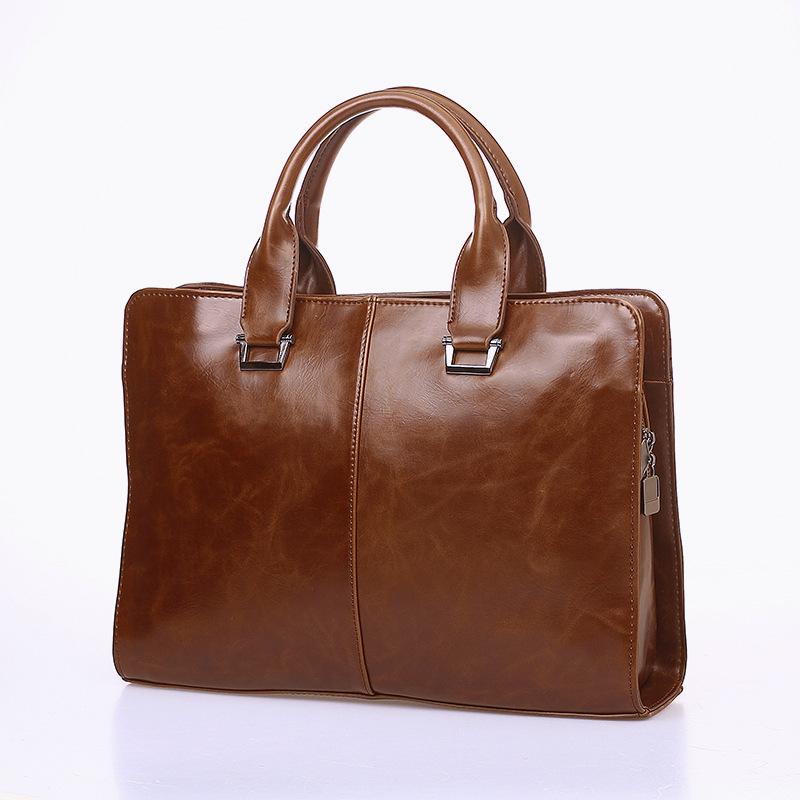 Crazy horse genuine leather men bag vintage loptap business men's leather briefcase men messenger bag shoulder bag handbag 0691(China (Mainland))
