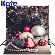 10x20ft(3x6m) christmas photo backdrops Pine ball necklace backgrounds for photo studio ZJ(China (Mainland))