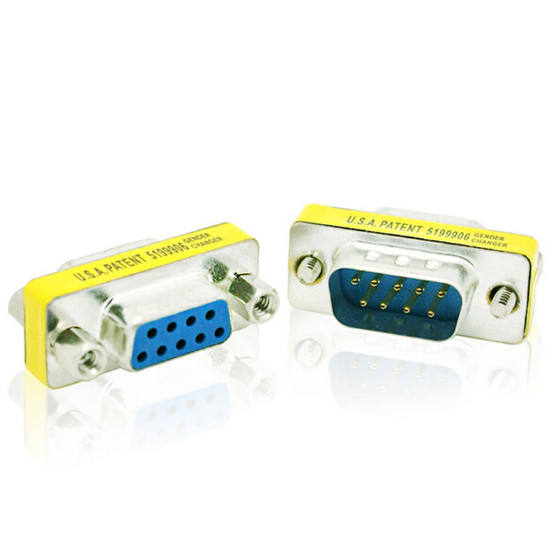 9 PIN Male to Female Gender Changer Converter DB9 Serial Adapter RS232 Connector(China (Mainland))