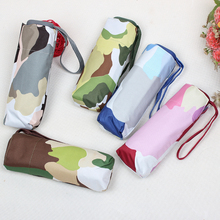 Buy Camouflage flat umbrella mini sun umbrella ultra-light five fold sunny umbrella UV sun umbrella folding for $14.23 in AliExpress store
