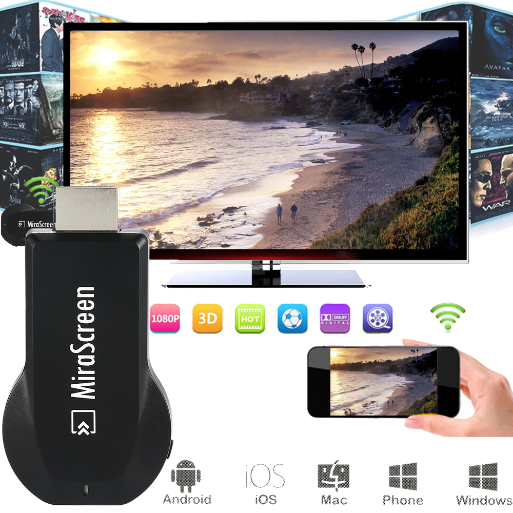 OTA Android TV Stick Dongle Better Than EasyCast EZCAST Wi-Fi Display DLNA Airplay Miracast Airmirroring Chromecast Mirascreen(China (Mainland))