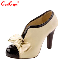 Size 34-43 women high heel shoes quality lady bowknot sexy fashion platform heeled footwear heels brand H023 - CoolCept store