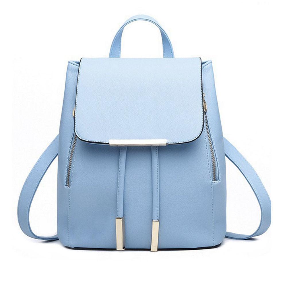 Hot Sale Women Leather Backpacks School Bags Pure Color Designer Travel Shoulder Bag Mochila Feminina Ladies Backpack 2017(China (Mainland))