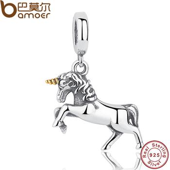 GIFT of The Winner Noble Elegant 100% 925 Sterling Silver Free Spirit Horse Animal Charm Pendant Fit Bracelet Bangle PAS020