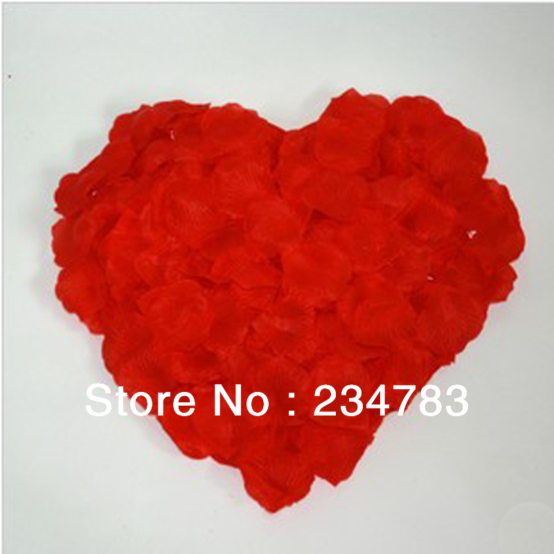 Slim 100Colorful Silk Rose Petals Artificial Flower Bridal Shower Favors Wedding Party Supplies Decoration - Wishled Tech store