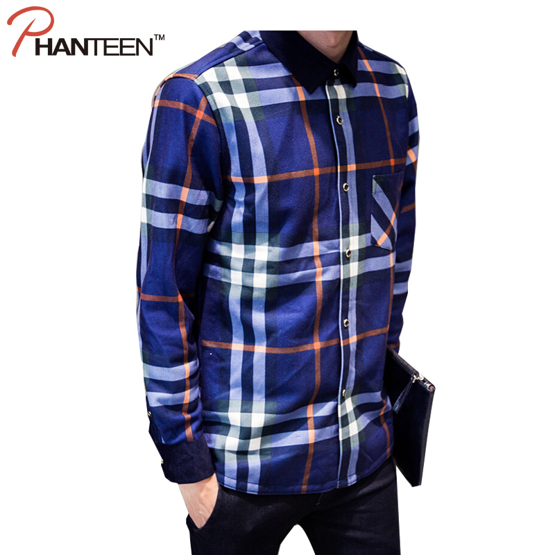 New Design Plaid Patchwork Color Man Shirts Thicken Fleece Warming Popular Shirts Fitness Plus Size Men Shirts M-5XLОдежда и ак�е��уары<br><br><br>Aliexpress