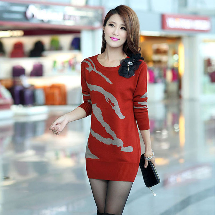 new lady fashion render unlined upper garment sweater manufacturers selling woolen sweater Round collar stripe(China (Mainland))