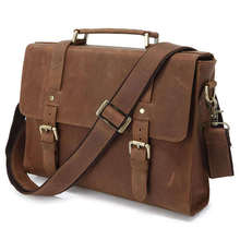 Maxdo Vintage Small Brown Genuine Leather Crazy Horse Leather Briefcase Men Cowhide Messenger Bags Portfolio #M6076(China (Mainland))