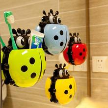 1PC Ladybug toothbrush holder Toiletries Toothpaste Holder Bathroom Sets Suction Hooks Tooth Brush container ladybird on sale(China (Mainland))