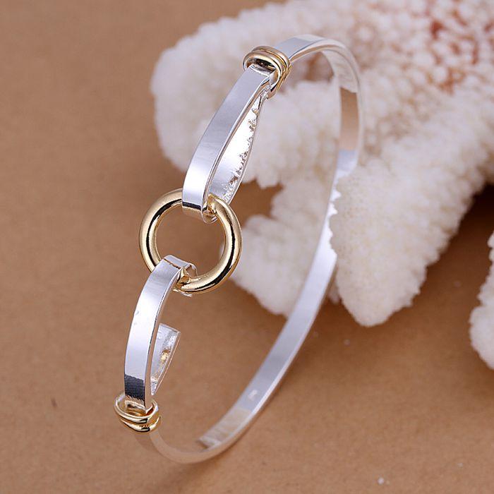 925 ювелирных изделий посеребренные браслет, Серебряный мода ювелирных изделий и золотой о браслет / AININDRE TLVTLSLR
