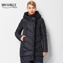 MIEGOFCE 2016 New Winter Women Coat Jacket Medium Length Warm High Quality Woman Down Parka Winter Coat with Sable Fur(China (Mainland))