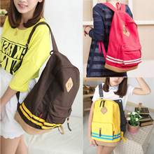 New Free Shipping Girl Women Cut Pig Nose Casual  Candy Canvas Backpacks Student School  Korean Travel bags Rucksack#HW03040(China (Mainland))