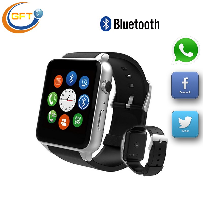 GFT GT88 free shipping Bluetooth <font><b>Smart</b></font> <font><b>Watch</b></font> SIM Slot TF Card Phone For Android Samsung <font><b>Sony</b></font> wtach <font><b>smart</b></font> heart rate monitor