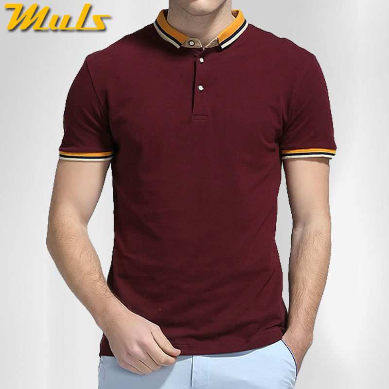 6Colors Men Polo shirts cotton short top tee male polo White Black Navy Blue Red Gray Muls brand Logo M-4XL quick dry breathable(China (Mainland))