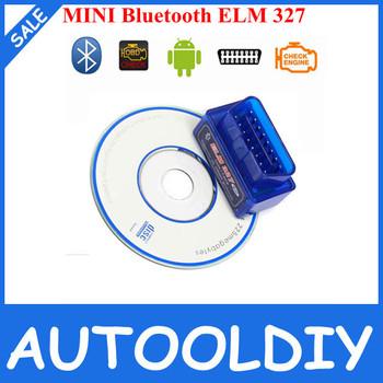 2015 High Quality Super Mini ELM327 Bluetooth OBD2 auto code reader mini327 Car diagnostic interface ELM 327 MINI free shipping