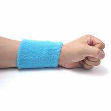Muti Colors Elastic Unisex Cotton Wrap Wristband Sport Sweatband Arm Band Basketball Tennis Gym Wrist Support(China (Mainland))