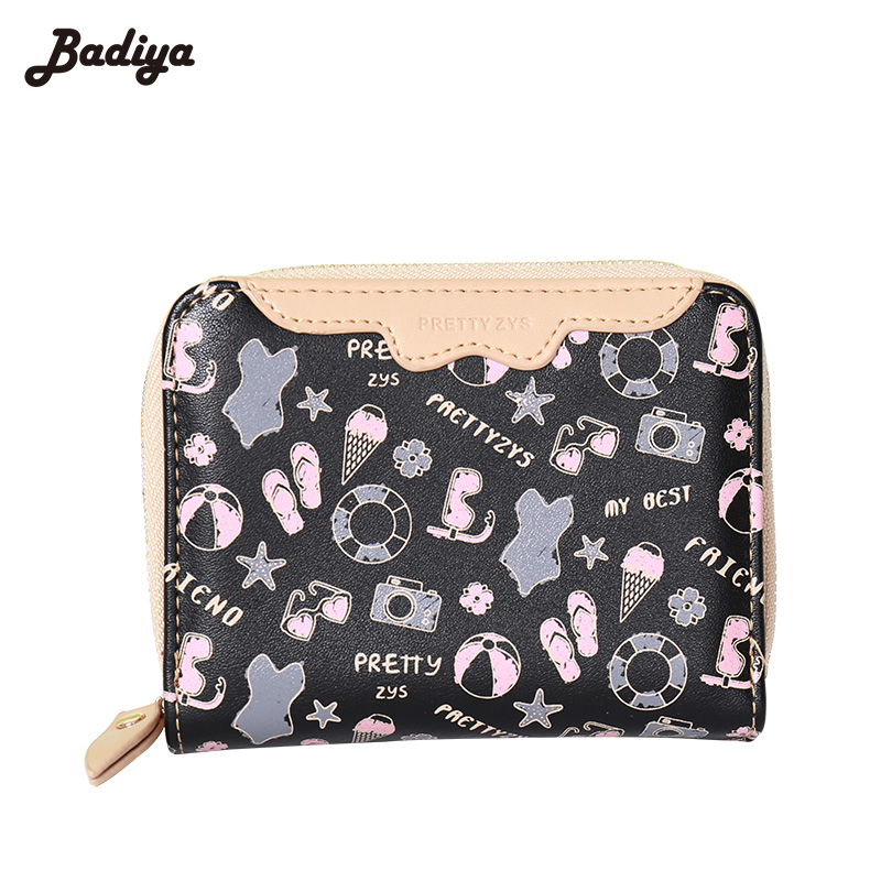 New Style Floral Women Wallets Delicate Women Clutch Wallet Fashion Female Purse Cute PU Leather Lady Purse(China (Mainland))