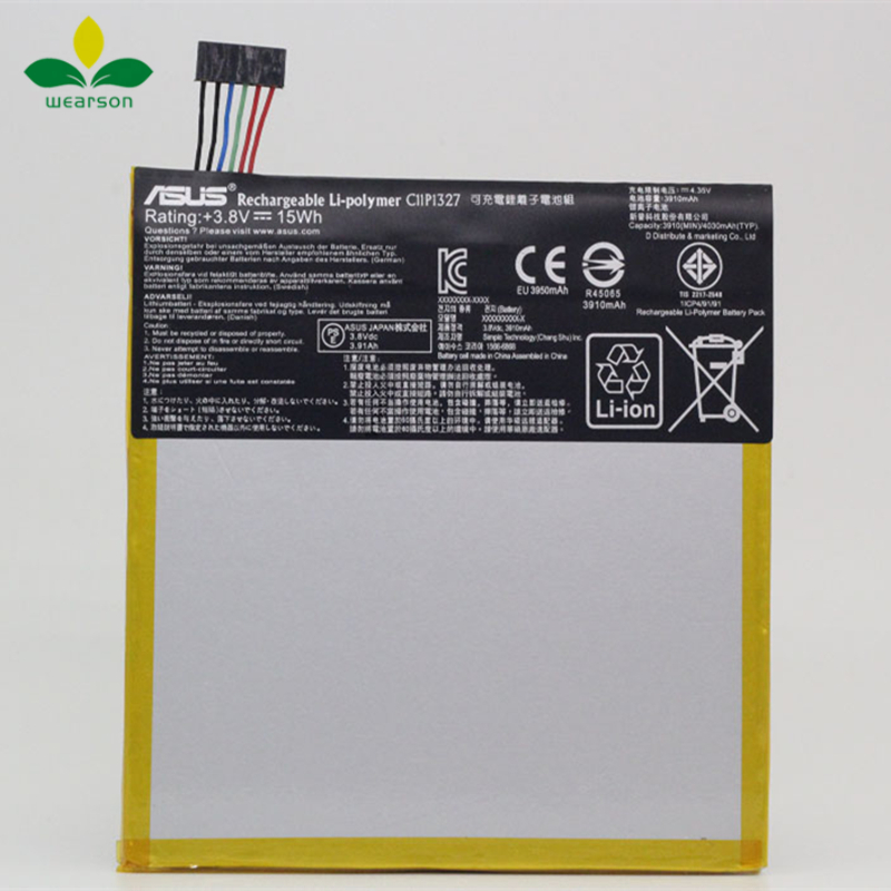 100% Original C11P1327 Battery For Asus MeMo pad 7 Me170C K017 FE170CG Battery 3910mAh Free Shipping With Tracking Number