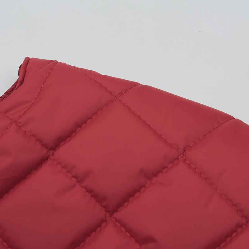 Winter Woman Padded Shoulder Padded Vest Red Blue Purple Bolero Waistvest Women's Pufffer Wadded Gilet Female Warm Ultra Short Vests (4)