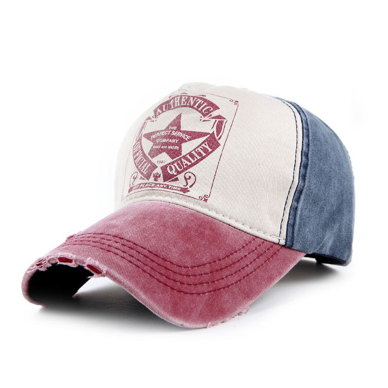 2016 New Five-Pointed Star Letters Cotton Denim Baseball Cap Outdoor Sport Hats Z-2662()