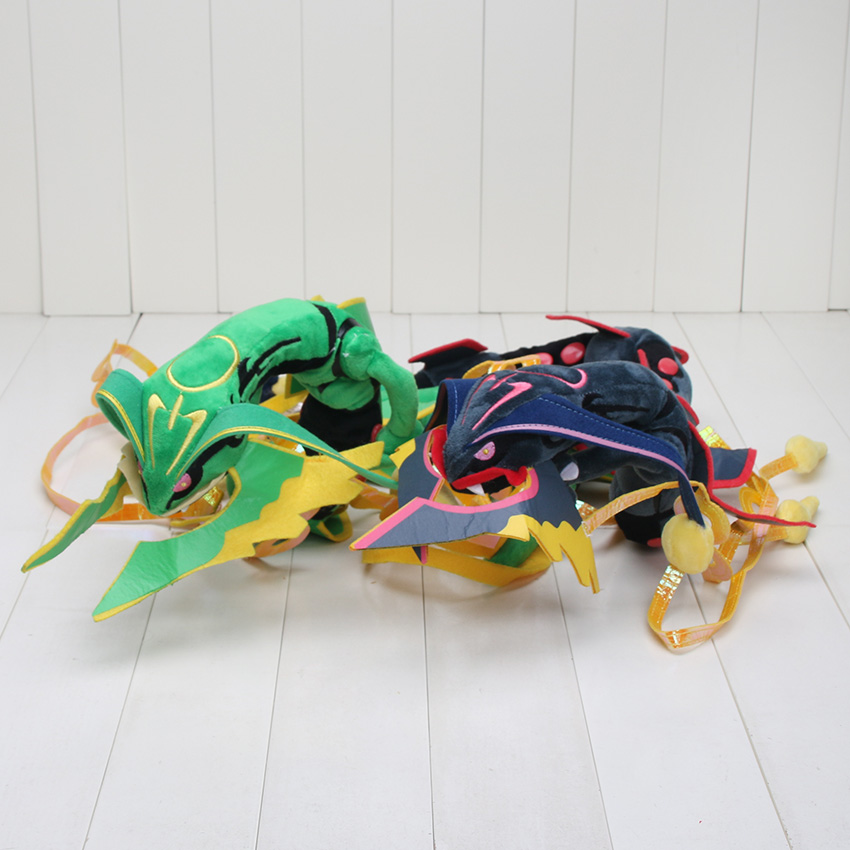 2pcs/set 83cm Pikachu XY Mega Rayquaza Plush Toy Doll Rayquaza Dragon Plush Soft Stuffed Toys Doll Gift for Kids(China (Mainland))