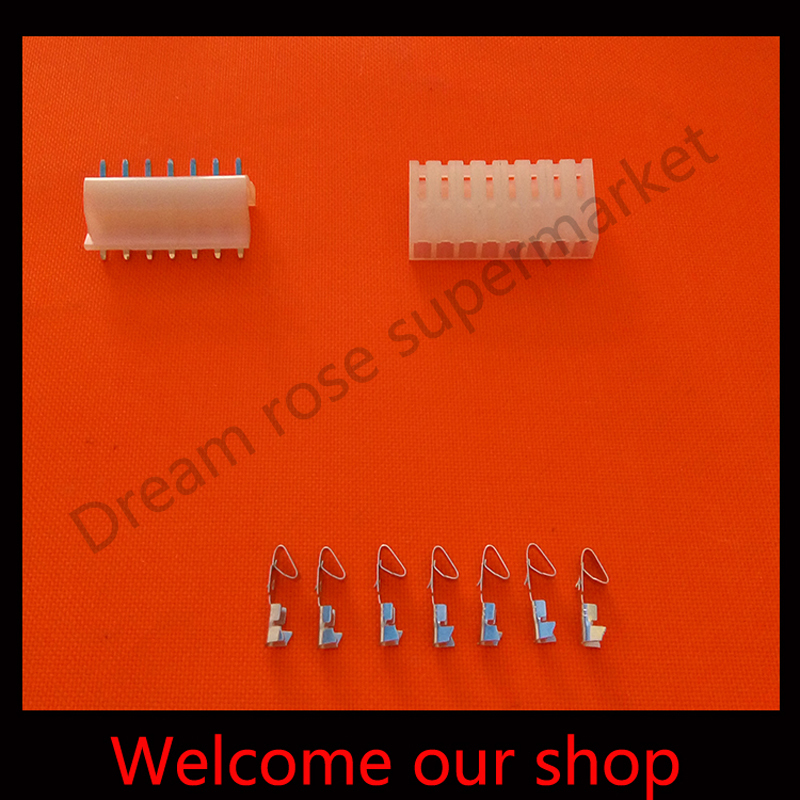 100sets ch3.96 7 pin crimp connector male female terminal kits  pitch  7Pin Header+Terminal+Housing free shipping<br><br>Aliexpress
