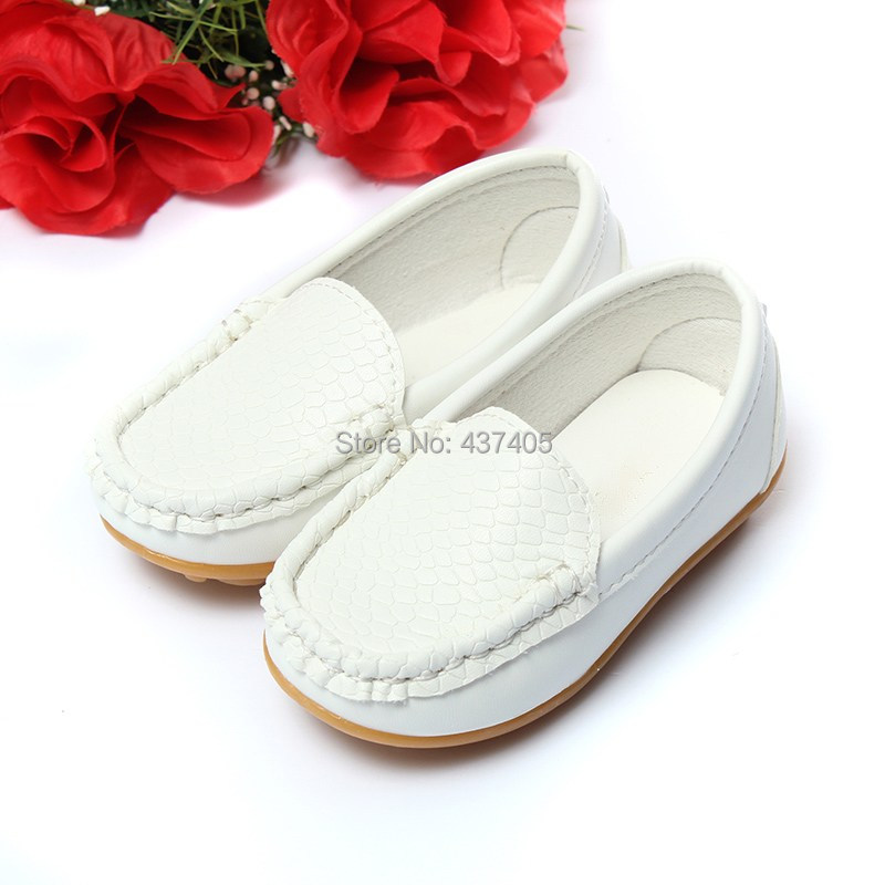 Retail Size 21-25 Children Shoes Kids PU Leather Sneakers For Boys And Girls Boat Shoes Slip On Soft Sole Casual Flats(China (Mainland))