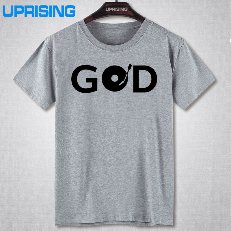 GOD IS A DJ VINYL PRINTED WHITE T SHIRT MENS TEE HOUSE MUSIC DANCE RAVE IBIZA TShirt Tee Shirt Unisex More Size and Colors(China (Mainland))
