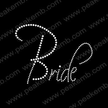 30pcs/Lot Free Shipping Iron On Crystal Letters Bride Rhinestones Heat Transfers Motif  Wholesale Custom Design Available