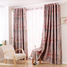 Modern Chinese style window curtains shade cloth living room den ready curtain floating floor bedroom balcony The Peony Pavilion(China (Mainland))