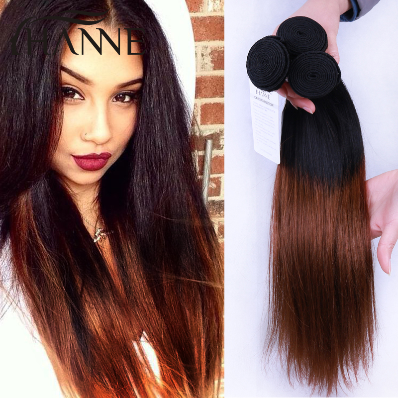 Ombre Hair 7A Peruvian Straight Hair Ombre Human Hair Extensions 3pcs dark root 33 or burgundy end human Hair Weave Bundles<br><br>Aliexpress