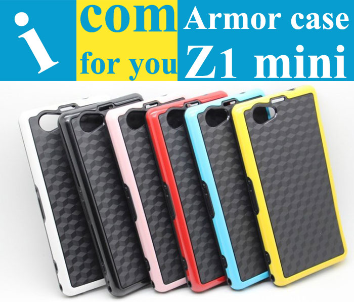 Drop resistance Armor Soft Rubber TPU Hybrid Cover case Sony Xperia Z1 Compact mini D5503(4.3 inch) - Shenzhen MIG Co.,ltd store