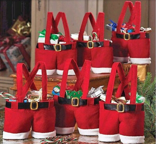 5pcs/lot Santa pants Style Creative Christmas Candy Gift Bag For Kids Children lover/marry Wedding Decoration S48(China (Mainland))