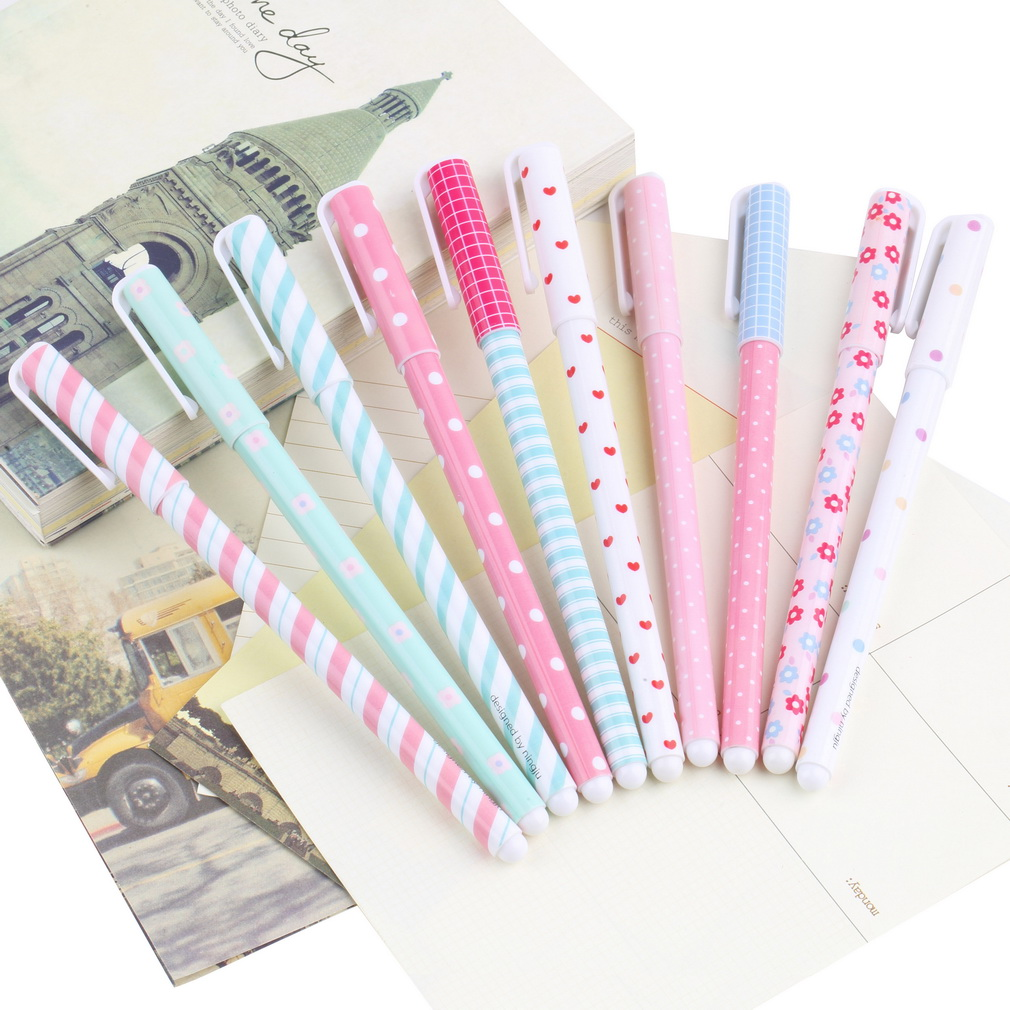 1set /10pcs Popular New Color Kandelia Korean Stationery Watercolor Pen Gel Pens Ballpoint Pen Set(China (Mainland))