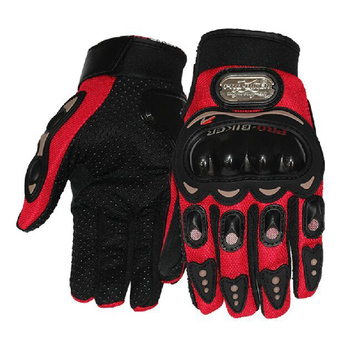 Outdoor Sports Protective Gears Full Finger knight Riding Motorbike Motorcycle Gloves 3D Breathable Mesh Fabric Men Women Glove
