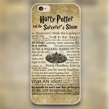 harry potter Quotese Design transparent case cover cell mobile phone cases for Apple iphone 4 4s 5 5c 5s 6 6s 6plus hard shell