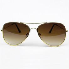 Gafas De Sol polarizadas del verano accesorios protección UV400 gafas gafas De Sol del marco del oro gradiente Color De la lente té 25 #13
