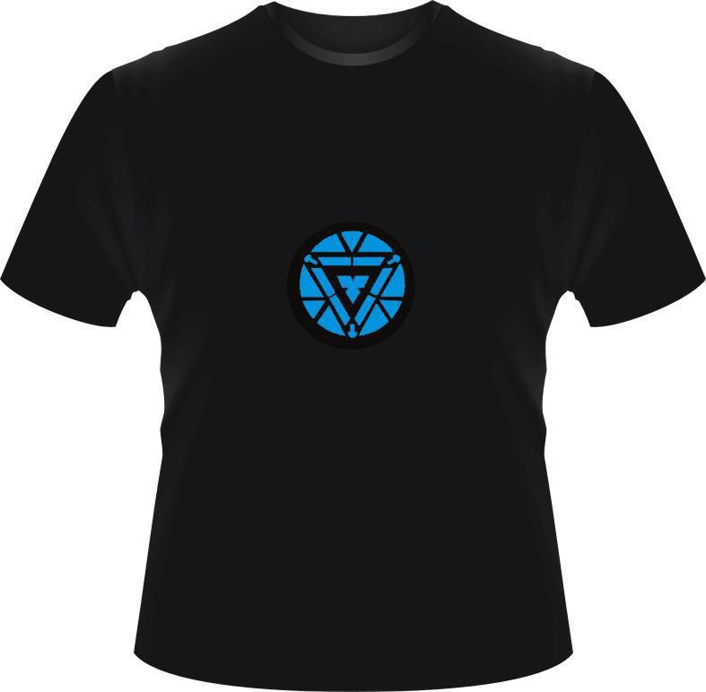 Luminous exclusive design Marvel T shirt The Avengers T shirts Iron Man Tony Stark High Quality